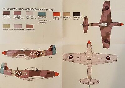 Red Roo Models 1/48 Mustang IV decals 3 Squadron RAAF