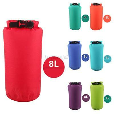 8L Sports Waterproof Dry Bag Backpack Thin Outdoor Swimming Camping Hiking Pouch