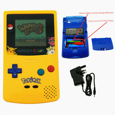 Rechargeable Pokemon Limited Edition Nintendo Game Boy Color Console + Card