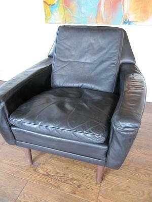 RETRO 60s DANISH LEATHER ARMCHAIR BY GEORGE THAMS VINTAGE mid century modern 70s