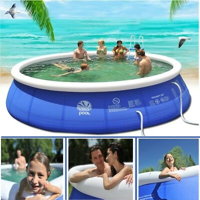 122x35cm Family Garden Inflatable Swimming Wading Paddling Pool Kids Pools Deep