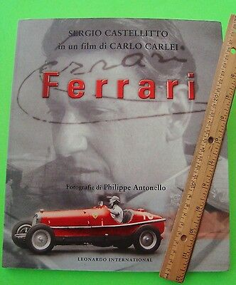 "2003 ""FERRARI"" Movie Book CARLO CARLEI FILM STARRING SERGIO CASTELLITTO Italian"