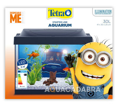 Tetra Minion 30L Aquarium Despicable Me Starter Kit & Fun Decorations Fish Tank
