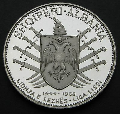 ALBANIA 5 Leke ND(1969) Proof - Silver - Victory Over the Turks. - 1414