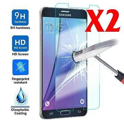 2Pcs Real 9H Tempered Glass Film Screen Protector Guard Cover For Samsung Galaxy