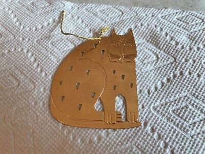 Laurel Burch HOLIDAY CAT Christmas 1989 Ornament Free Shipping