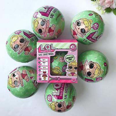 8X LOL Lil Sisters Surprise Ball Series 1 Dolls 7 Layers Blind Mystery Ball Toy