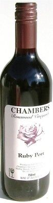 Chambers Ruby Port NV (12 x 750mL), Rutherglen VIC.