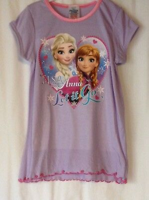 New Girls Ages 2-8 Years Frozen Princess Tatty Teddy Nightie Disney Nightwear