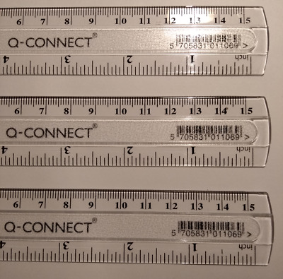 "15cm Clear Ruler - Mini School Office Plastic Stationery Measure Small 6"" Inch"