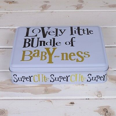 Baby Gift Set New Vest Bib & Hat in Gift Tin New The Bright Side