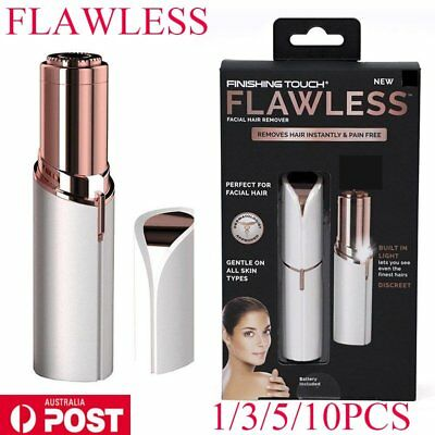 Women's Lipstick Finishing Touch Painless Face Facial Epilator Hair Remover New