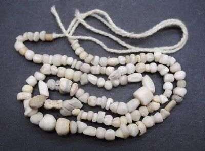 Ancient Romano Egyptian Shell And Stone Bead Necklace 1St Century Ad