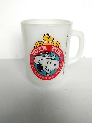 Fire King Snoopy - Vote For The American Beagle - 1980 Collectors Series No. 2