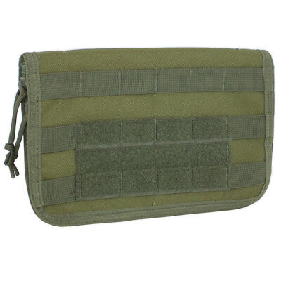 Bulldog MOLLE Military Army Commander Admin Panel Pouch Map Case Cover OD Green