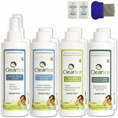 ClearLice Natural Head Lice Treatment Kit (Family Size)