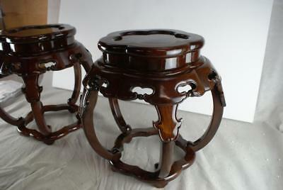 Pair Of Chinese Fern Stands Furniture Excellent Condition Table Side