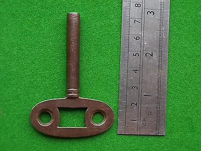 Antique Vintage Clock Key (75mm -3inch) in good condition - all steel 4.5mm sq