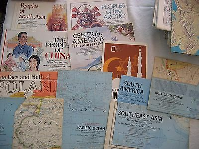 Lot 12 Assorted World Maps National Geographic People of Arctic Middle East More