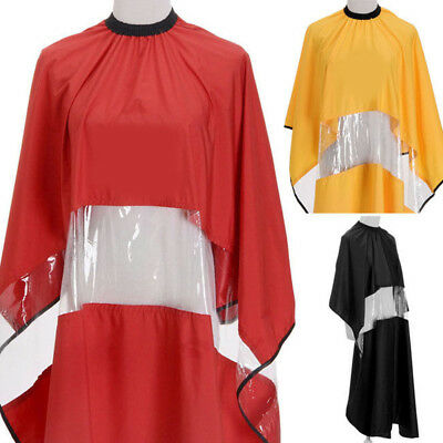 IT- Hair Cape Long Gown Barber Cape PVC Transparent For Phone Cutting Salon Eyef