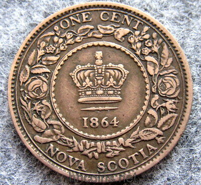 Canada Nova Scotia Queen Victoria 1861 Cent