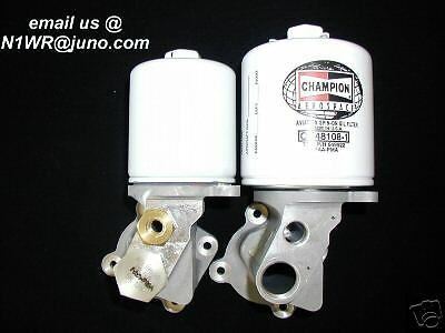 """Lycoming Experimental""""no Spill"""" 90 Deg. Oil Filter Conversion"""
