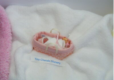 OOAK  Miniature Handmade Baby Girl  1:12th SCALE   TINY DOLLS HOUSE BABY/NURSERY