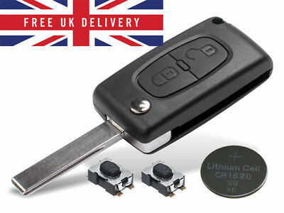 Fits Peugeot 207 308 2 Button KEY FOB REMOTE CASE Repair Fix Kit