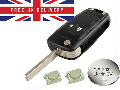 Fits Vauxhall Opel Astra Insignia Corsa 2 Button Remote Key Refurbish Fix Kit