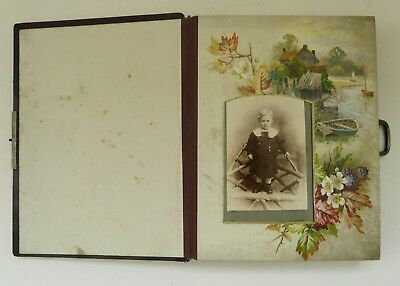 Victorian photograph album with original photographs- very attractive.