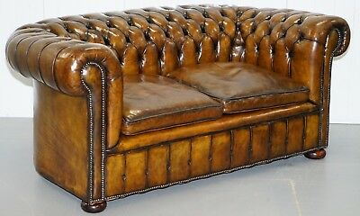 Rare 1920's Original English Fully Restored Chesterfield Gentleman's Club Sofa