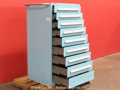 Stanley Vidmar 9-Drawer Tool Cabinet Shop Equipment Storage Box bidadoo