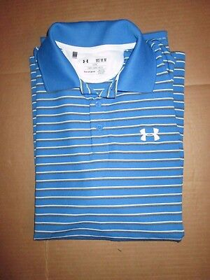 Mens UNDER ARMOUR HEAT GEAR GOLF  athletic collared shirt M Md med polo