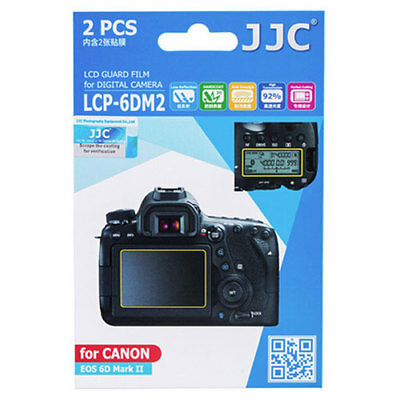 JJC LCP-6D II ultra hard polycarbonate LCD Film Screen Protector Canon EOS 6DII