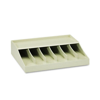 "MMF Industries Bill Strap Rack 6 Pockets 10-5/8"" w x 8-5/16"" d x 2-5/16"" h Putty"