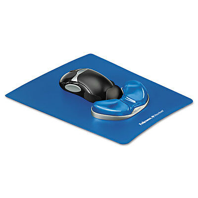 Fellowes Gel Gliding Palm Support w/Mouse Pad Blue 9180601