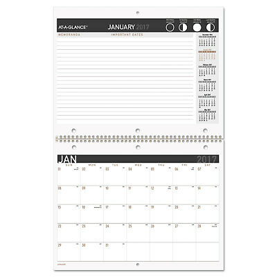 At-a-Glance Contemporary Small Monthly Desk/Wall Calendar 11 x 8 1/2 2018