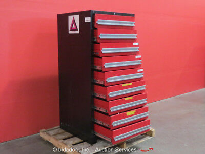 Stanley Vidmar 9-Drawer Tool Cabinet Shop Equipment Storage bidadoo Box