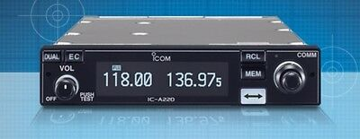 NEW ICOM IC-A220 NON TSO'd PANEL MOUNT VHF AIR BAND TRANSCEIVER