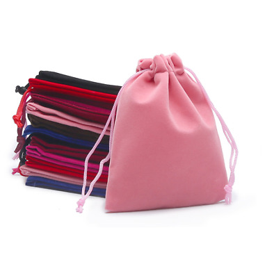 1/5/10/25/50 Velvet Jewellery Drawstring Wedding Gift Bag Favour Pouches Party