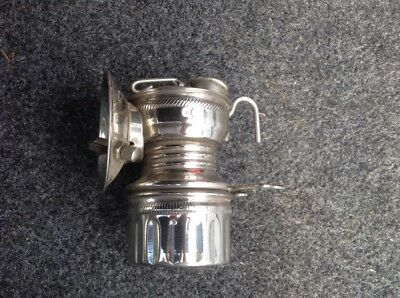 Pocahontas carbide miners lamp, unfired, nickel plated patent 9-19-18