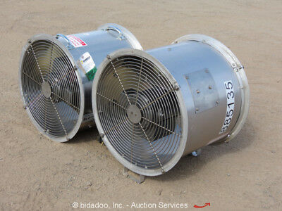 "Lot of (2) 2016 Coenco Real Air Mover II-18 3/4"" HP Electric 18"" Fan 115V Blower"