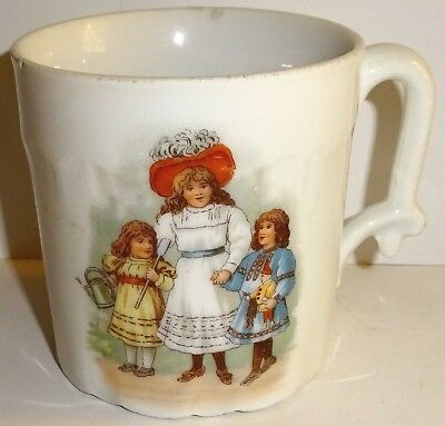 Antique HAND PAINTED Porcelain CHILD'S CUP and/or MUG! NR!