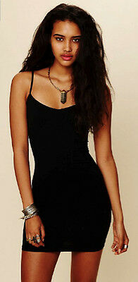 NEW Free People Intimately Seamless Mini Slip Dress in Black Sz XS/S-M/L $39.73