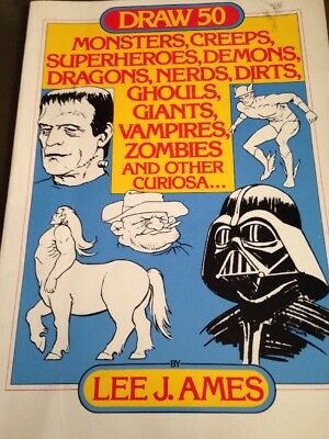 Lee J Ames Draw 50 Monsters, Creeps, Demons, Etc Learn To Draw Book