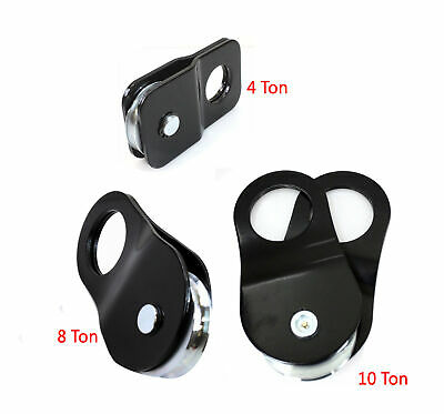 4, 8, 10 Ton Recovery Pulley Winch Snatch Block 8,000 to 20,000 lb. HD
