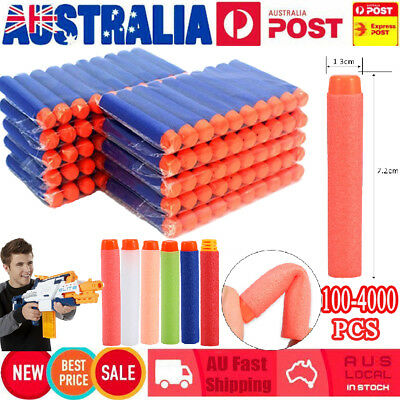 100-1000 Toy Refill Gun Darts Blasters Elite NERF N-Strike Round Head Bullets
