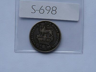 Vintage Great Britain 1826 Shilling Silver  Value 80.00   S698