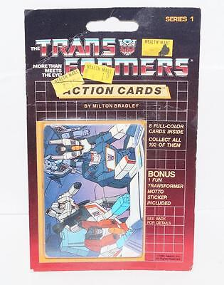 Megatron Sealed Pack Card #132 Transformers Trading Action Cards 1985 G1