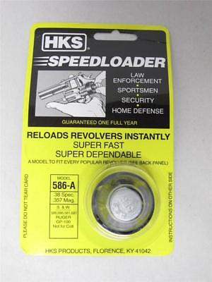 HKS 586-A SpeedLoader for S&W 38/357 L Frame 581 586 681 686 RUGER GP100 6-Shot